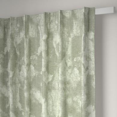 Rideau plis piqués flamands Angele Vert