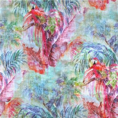 Rideau plis piqués flamands Ara Fuchsia