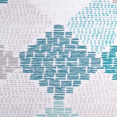 Rideau plis piqués flamands Bellini Turquoise