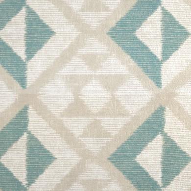 Rideau plis piqués flamands Campeche Turquoise