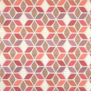 Rideau plis piqués flamands Cubed Rouge