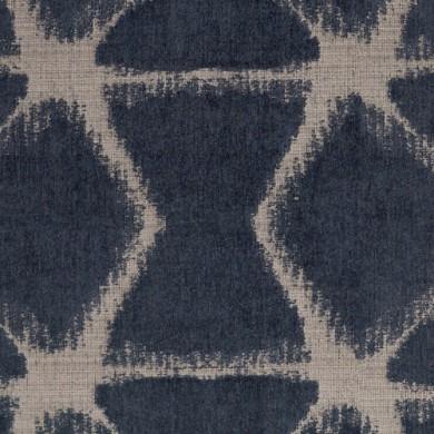 Rideau plis piqués flamands Farah Indigo