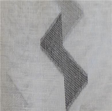 Voilage plis piqués flamands Zigzag Blanc
